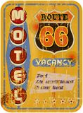 Retro route 66 Motel. Sign,vacation,  vector Stock Image