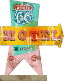Retro route 66 Motel sign Stock Images