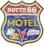 Retro route 66 Motel sign Royalty Free Stock Image