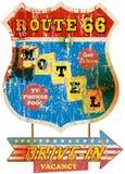 Retro route 66 Motel sign, Stock Image