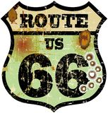 Retro route 66 sign Royalty Free Stock Photography
