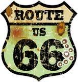 Retro route 66 teken Royalty-vrije Stock Fotografie