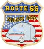 Retro route 66 trailer park sign Stock Photos
