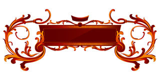 Retro royal banner Stock Image