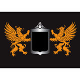 Retro royal shield Royalty Free Stock Photography