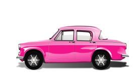 Retro roze auto. Vector Illustratie