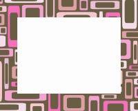 Retro roze en bruin rechthoekenframe Royalty-vrije Stock Foto's