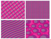 Retro roze en violette comboachtergrond Royalty-vrije Stock Foto's