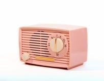 Retro Roze AM Radio royalty-vrije stock afbeeldingen