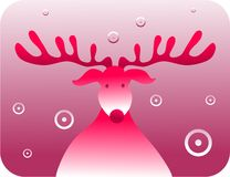 Retro rudolf royalty free illustration