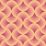 Retro rund apelsin och röd sömlös vektor Royaltyfria Foton