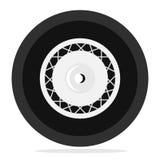 Retro ruota isolata Illustrazione di Stock