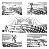 Retro rural landscapes Stock Photography