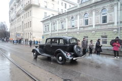 Retro Russian car Royalty Free Stock Photography