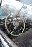 Retro Russian car Royalty Free Stock Photo