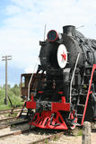 Retro russian locomotive Royalty Free Stock Photo