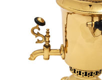 Retro russian samovar, close-up Royalty Free Stock Photo