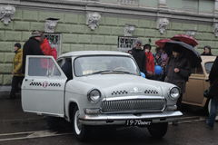 Retro Russian taxi car Royalty Free Stock Images