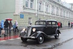 Retro Russische auto Royalty-vrije Stock Afbeeldingen
