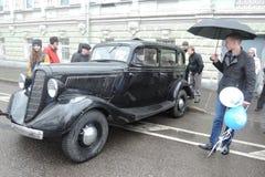 Retro Russische auto Royalty-vrije Stock Afbeelding
