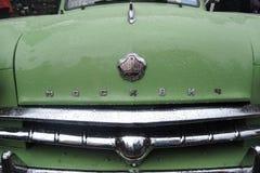 Retro Russische auto Moskvich (Moskovite) Stock Fotografie