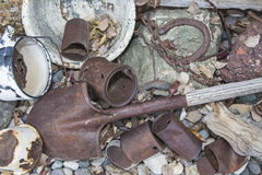 Retro rusted outdoors junk yard Royalty Free Stock Images