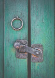 Retro Rustic Door Latch Stock Photo
