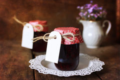 Retro Rustic Homemade Jam Jar Royalty Free Stock Photos
