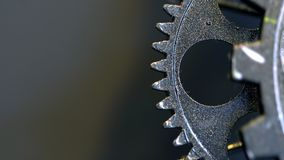 Retro Rusty Mechanic Clock Gears. Photo royalty free stock photography