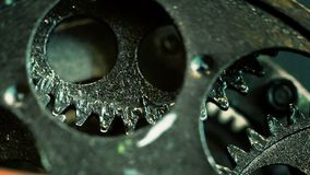 Retro Rusty Mechanic Clock Gears. Photo royalty free stock photo