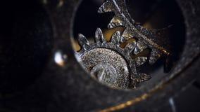 Retro Rusty Mechanic Clock Gears. Photo royalty free stock image