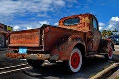 Retro Rusty Patina Antique Chevy Chevrolet prende il camion dal 1946 su esposizione nel Ft Lauderdale1946 Fotografia Stock