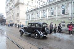 Retro rysk bil Royaltyfri Fotografi