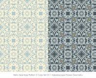 Retro sömlös blomma Geome för kalejdoskop för färg Set_011 för modell 2 Royaltyfria Foton