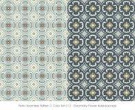 Retro sömlös blomma Kaleidosc för geometri för färg Set_013 för modell 2 Arkivfoto