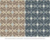 Retro sömlös för färguppsättning för bakgrund 2 diameter för ram för kors för kurva oval stock illustrationer