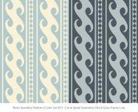 Retro sömlös för färguppsättning för bakgrund 2 geometri Chec för spiral för kurva vektor illustrationer