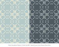 Retro sömlös för färguppsättning för bakgrund 2 ram C för kors för kurva för spiral stock illustrationer