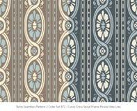 Retro sömlös för färguppsättning för bakgrund 2 ram F för spiral för kors för kurva vektor illustrationer