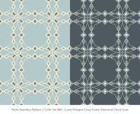 Retro sömlös för färguppsättning för bakgrund 2 ram för kors för polygon för kurva stock illustrationer