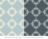 Retro sömlös för färguppsättning för bakgrund 2 växt L för kors för spiral för kurva royaltyfri illustrationer
