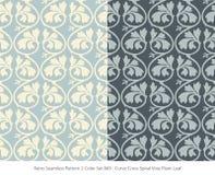 Retro sömlös för färguppsättning för bakgrund 2 vinranka Pl för spiral för kors för kurva royaltyfri illustrationer