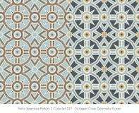 Retro sömlös geometri Fl för kors för oktogon för färg Set_027 för modell 2 Arkivbilder