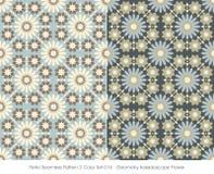 Retro sömlös kalejdoskop Flo för geometri för färg Set_016 för modell 2 Royaltyfri Bild