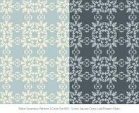 Retro sömlöst för färguppsättning för bakgrund 2 blad Fl för kors för fyrkant för kurva royaltyfri illustrationer