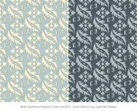Retro sömlöst för färguppsättning för bakgrund 2 blad VI för kors för spiral för kurva vektor illustrationer