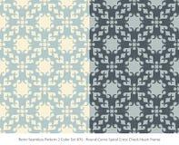 Retro sömlöst för färguppsättning för bakgrund 2 kors C för spiral för kurva för runda royaltyfri illustrationer