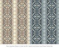 Retro sömlöst för färguppsättning för bakgrund 2 kors för virvel för kurva för spiral stock illustrationer