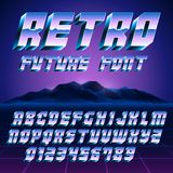 Retro 80s Alphabet and Numbers Royalty Free Stock Image