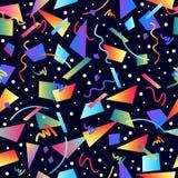 Retro 80s bezszwowy deseniowy tło ilustracja wektor